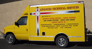 advance technical services yellow truck